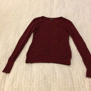 Express Red/Black Marled Sweater